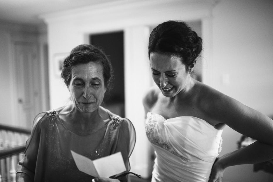 Wedding Note Before Ceremony