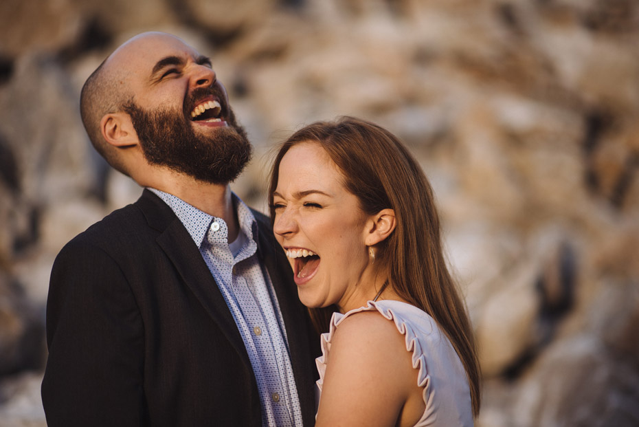 Laughing Engagement Photo
