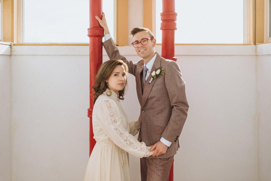 Vintage Styled Bride and Groom