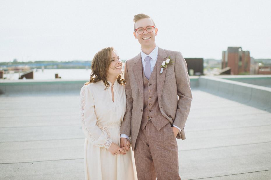 Rooftop Wedding Portrait