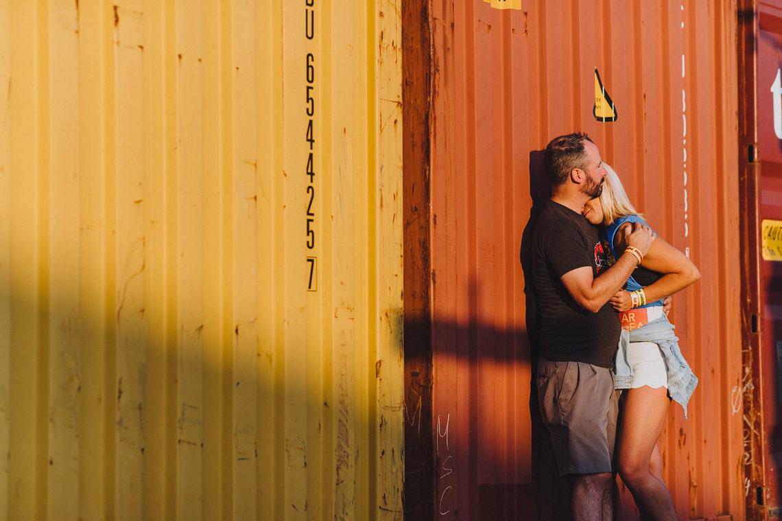 Storage contrainers couples photo