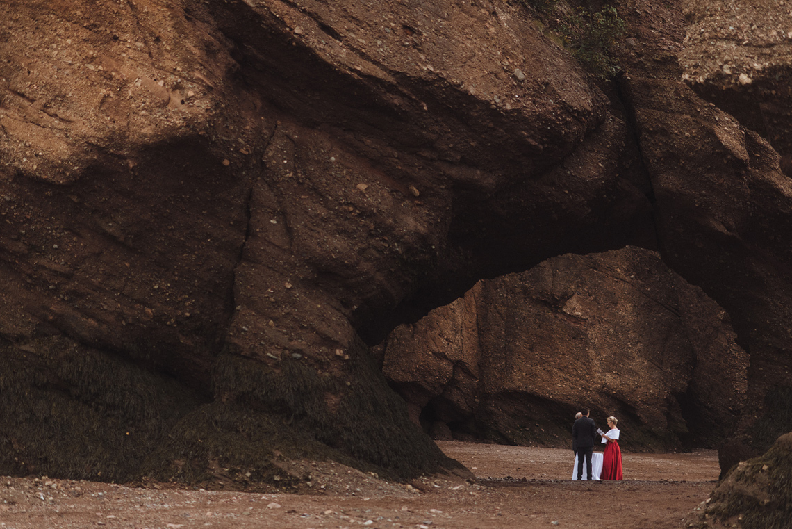 Hopewell Rocks Wedding